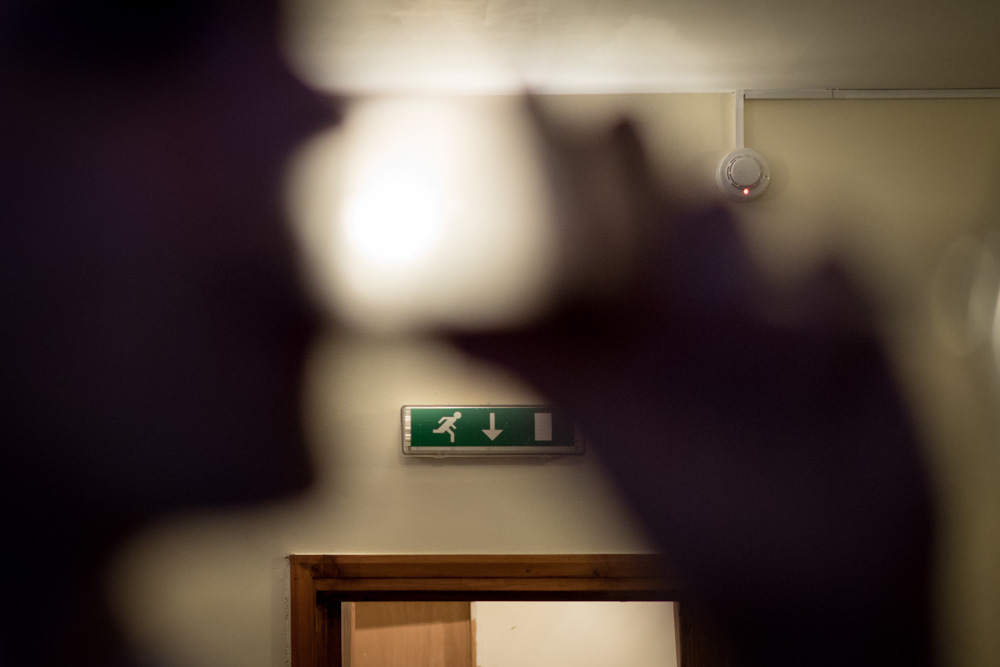 Photograph of exit sign