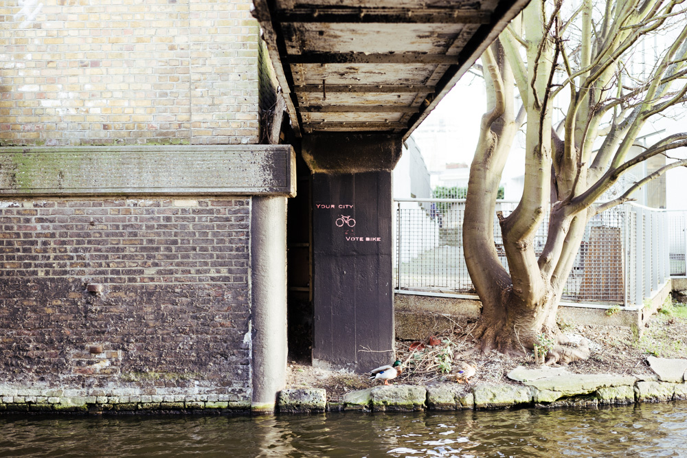 Street art on London's Canal